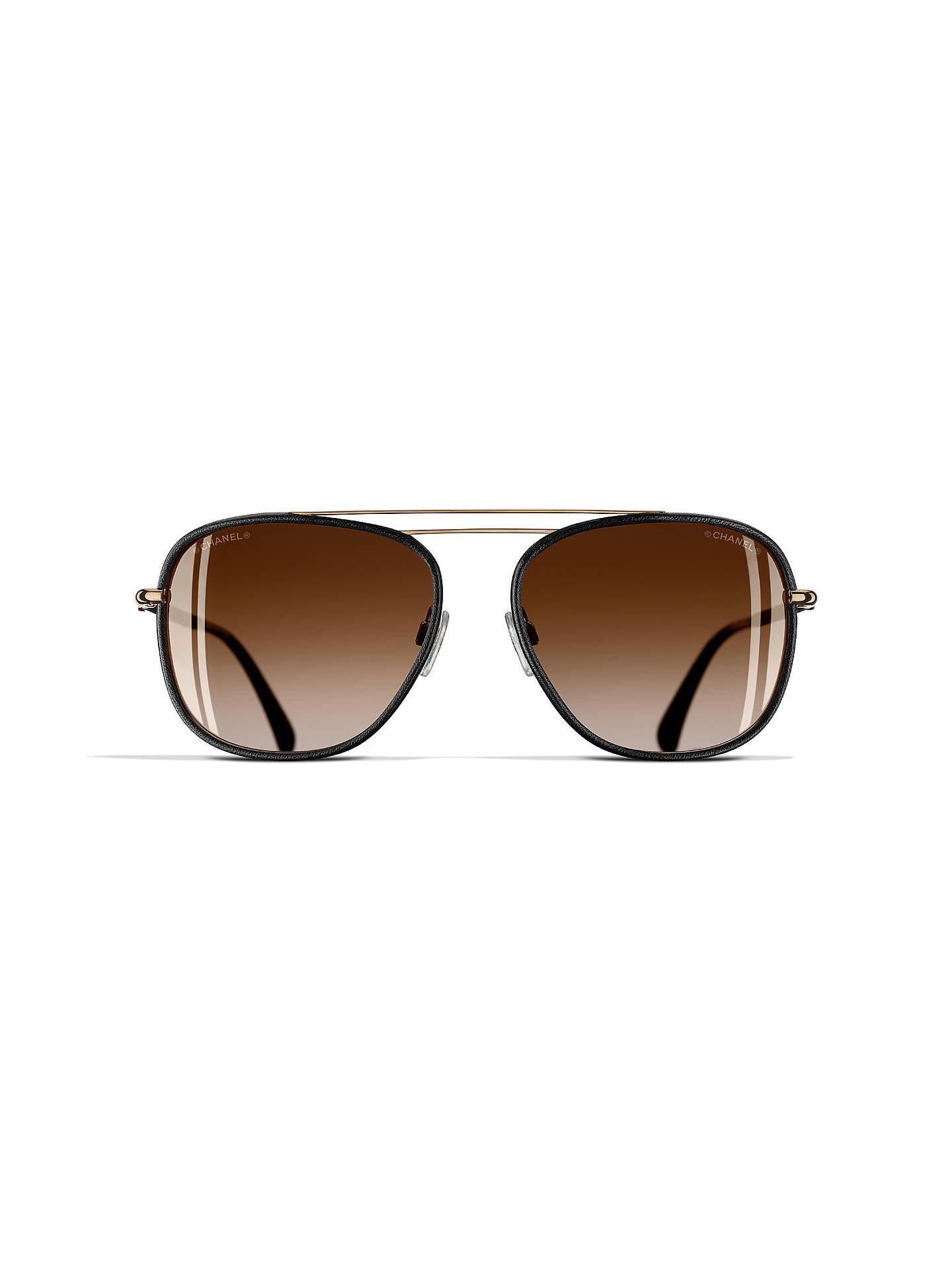 98aa8549883 ... Buy CHANEL Pilot Sunglasses CH4230Q Black Gold Online at johnlewis.com  ...