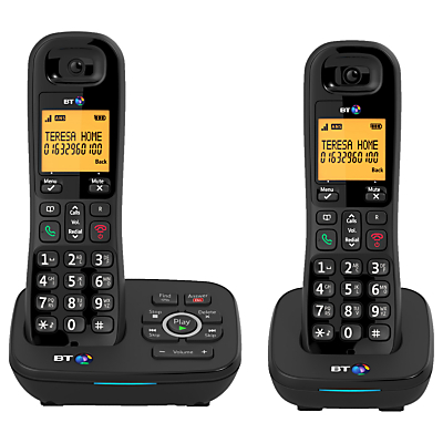 BT 1700 Digital Cordless Telephone with Nuisance Call Blocker & Answering Machine, Twin DECT
