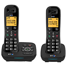 Buy BT 1700 Digital Cordless Telephone with Nuisance Call Blocker & Answering Machine, Twin DECT Online at johnlewis.com