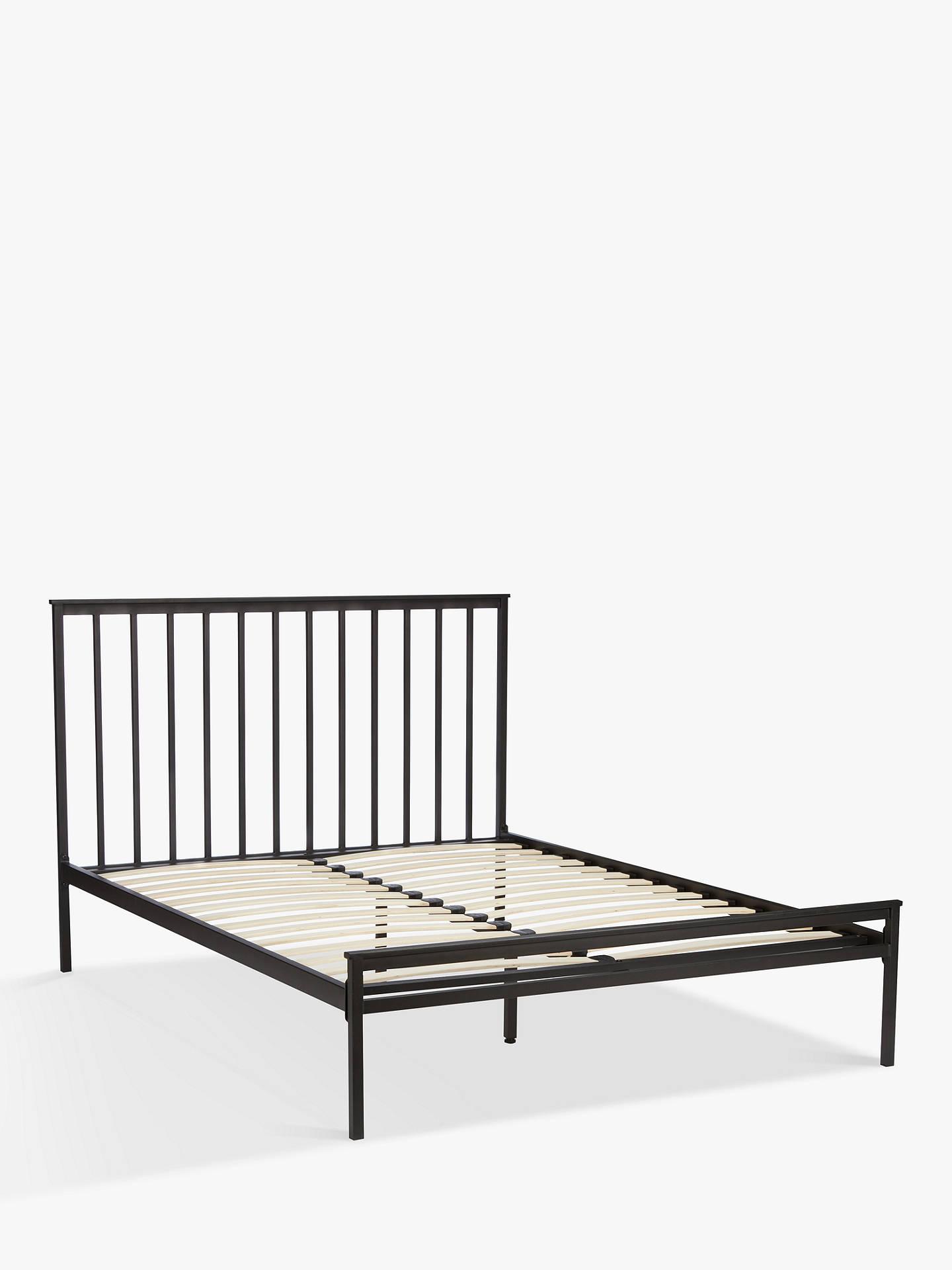 John Lewis & Partners Franklin Bed Frame, King Size, Black at John ...