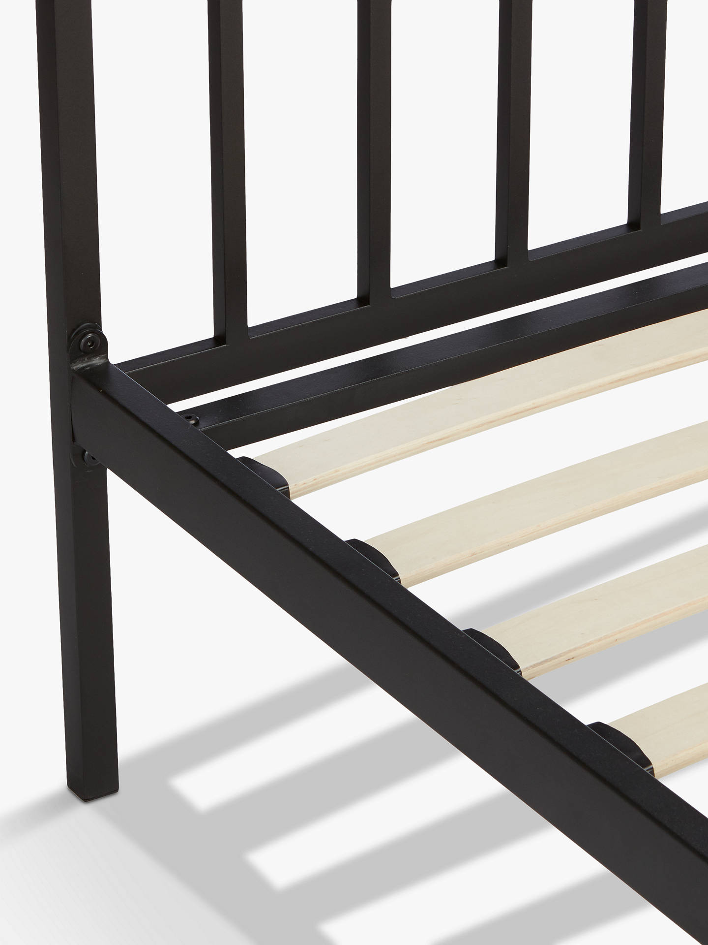 Buy John Lewis & Partners Franklin Bed Frame, Double, Black Online at johnlewis.com