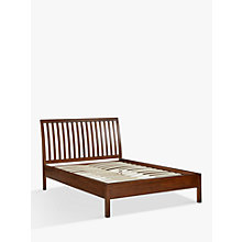 Buy John Lewis Medan Bed Frame, Double, Dark Wood Online at johnlewis.com
