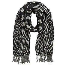 Buy Gerard Darel Edie Scarf, Black/Cream Online at johnlewis.com