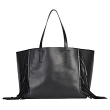 Buy Gerard Darel Simple 2 Fun Tassel Fringe Tote Bag, Black Online at johnlewis.com