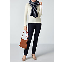 Buy Pure Collection Gassato Cashmere Scarf, Navy Stripe Online at johnlewis.com