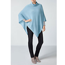 Buy Pure Collection Soft Cowl Cashmere Poncho, Antique Blue Online at johnlewis.com
