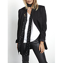Buy hush Skinny Lightning Scarf, Black/White Online at johnlewis.com