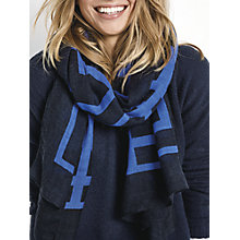 Buy hush Love Scarf, Charcoal/Bluebird Online at johnlewis.com