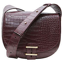 Buy French Connection Contemporary Slide Lock Magda Across Body Bag, Chocolate Chili Croc Online at johnlewis.com