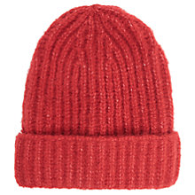 Buy French Connection Ribbed Beanie Hat, One Size Online at johnlewis.com