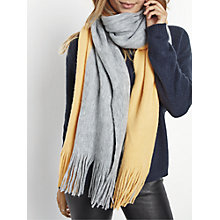 Buy hush Colourblock Scarf, Grey Marl/Apricot Online at johnlewis.com