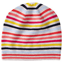 Buy Pure Collection Cashmere Stripe Hat Online at johnlewis.com