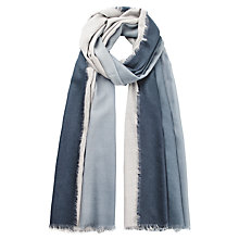 Buy hush Ombre Merino Scarf, Navy/Grey Online at johnlewis.com