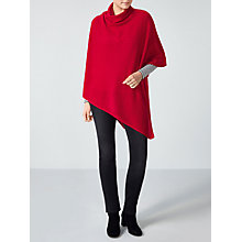 Buy Pure Collection Cashmere Cowl Neck Poncho, Rich Red Online at johnlewis.com