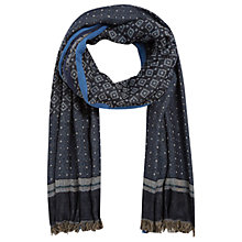 Buy Gerard Darel Enzo Cotton Blend Scarf, Blue/Multi Online at johnlewis.com
