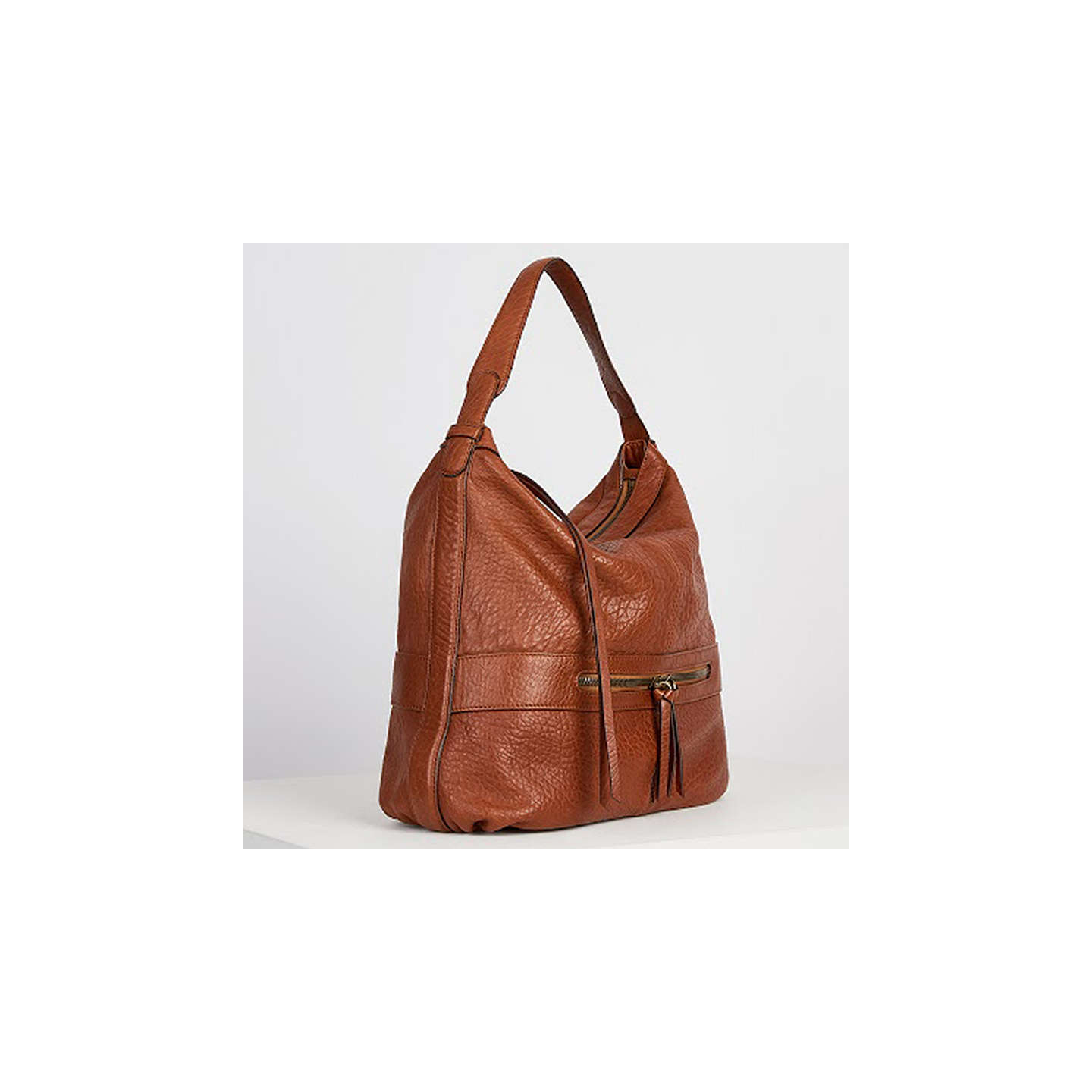 BuyGerard Darel Midday GD Tassel Shoulder Bag, Camel Online at johnlewis.com