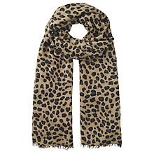 Buy hush Leopard Cashmere Scarf, Brown Online at johnlewis.com