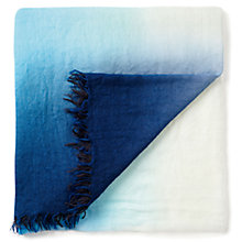 Buy Pure Collection Fine Cashmere Scarf, Blue Dip Dye Online at johnlewis.com