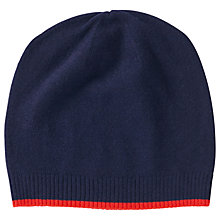 Buy Pure Collection Colour Block Cashmere Hat, Navy Online at johnlewis.com