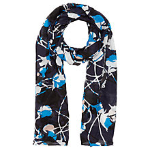 Buy Jigsaw Floral Thistle Scarf, Navy Online at johnlewis.com