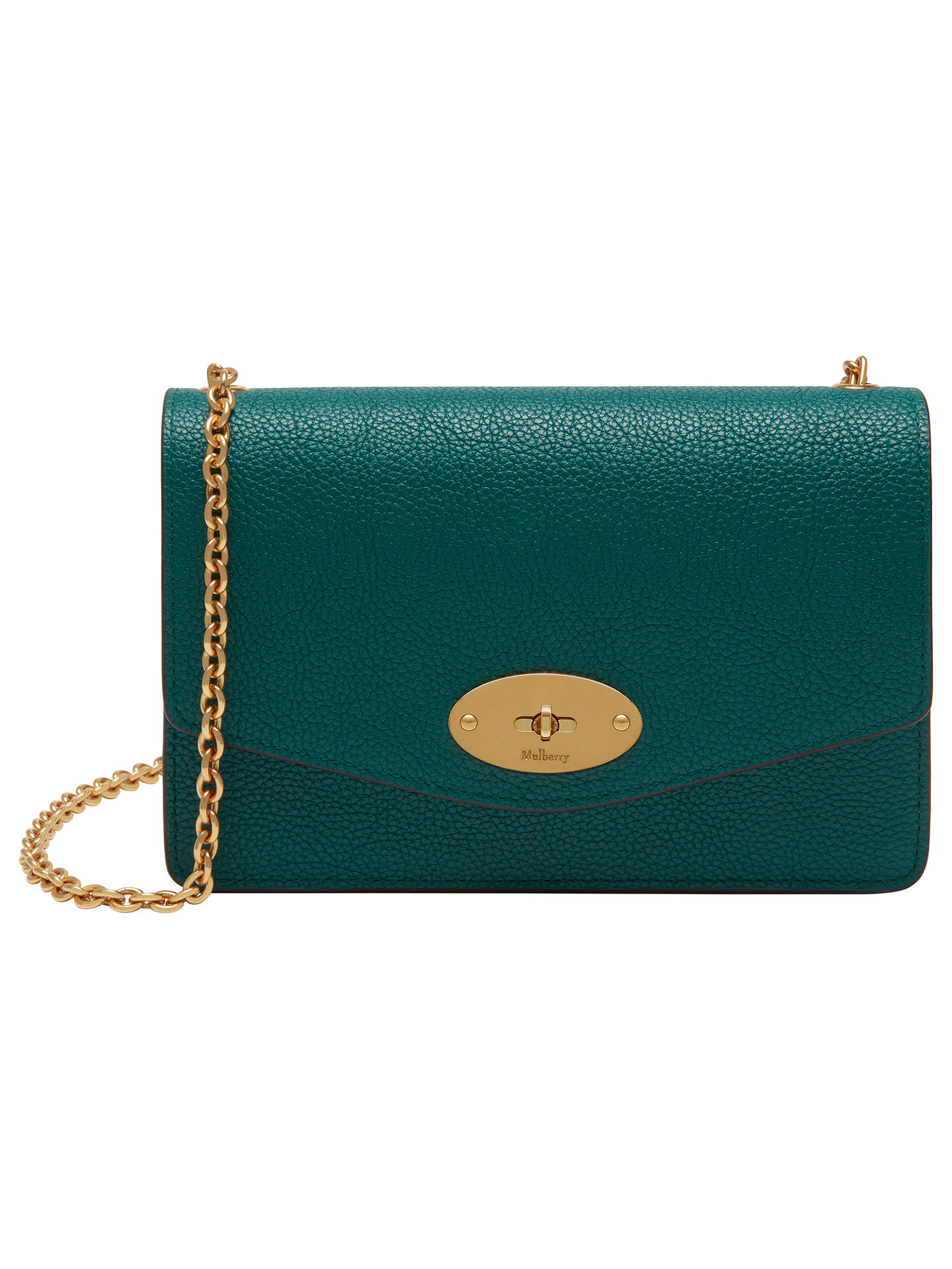 f675f34f82 ... uk buymulberry darley small classic grain cross body bag ocean green  online at johnlewis b93ee 1f49d clearance promotion mulberry ...