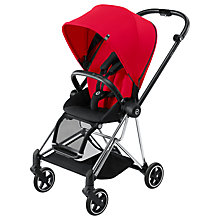 Buy Cybex Mios Complete Pushchair, Chrome with Red Colour Pack and Comfort Inlay Online at johnlewis.com