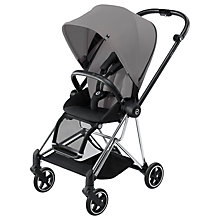 Buy Cybex Mios Complete Pushchair, Chrome with Grey Colour Pack and Comfort Inlay Online at johnlewis.com