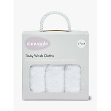 Buy Shnuggle Wash Cloth Set, White Online at johnlewis.com
