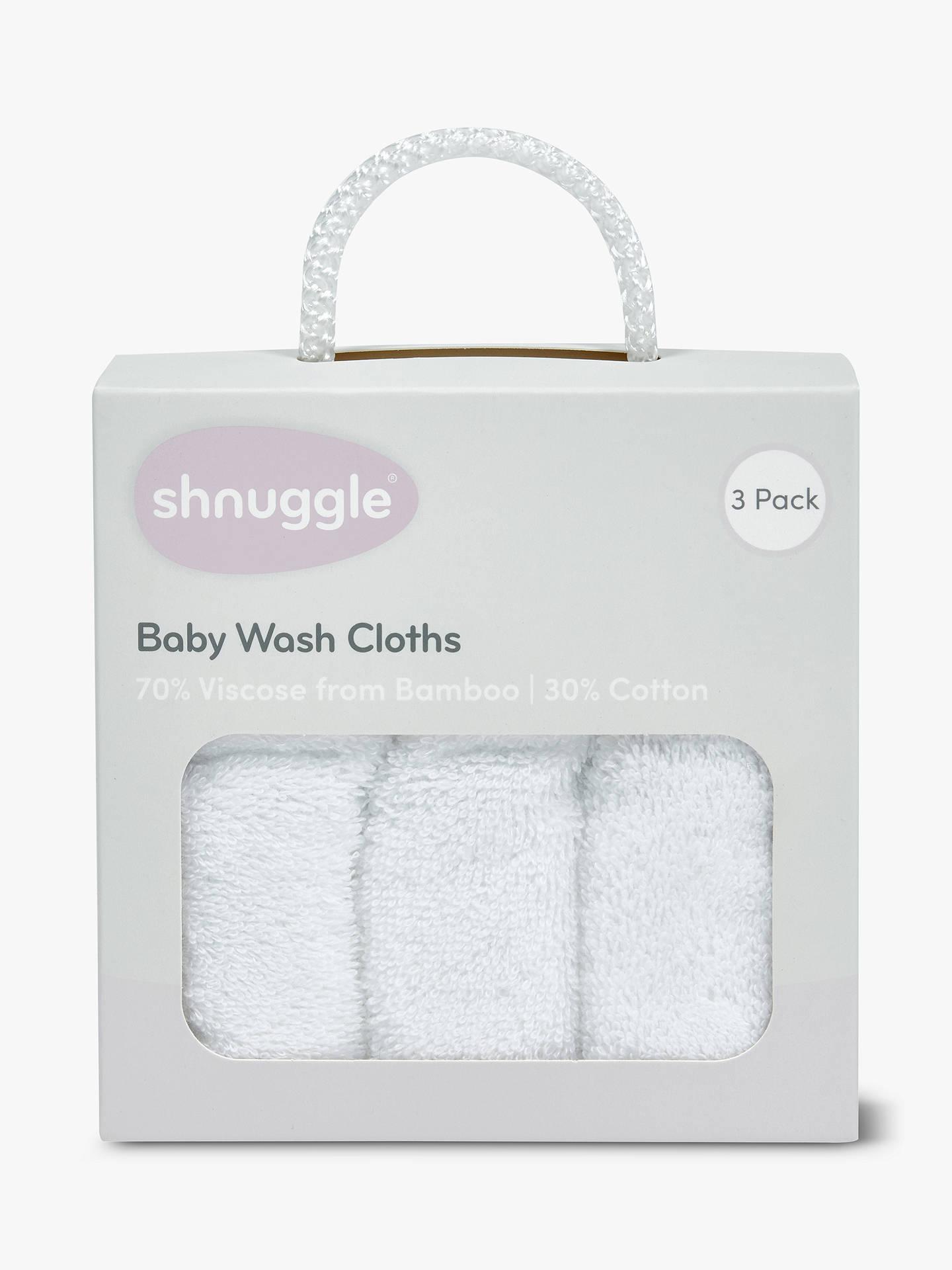 BuyShnuggle Wash Cloth Set White Online At Johnlewis