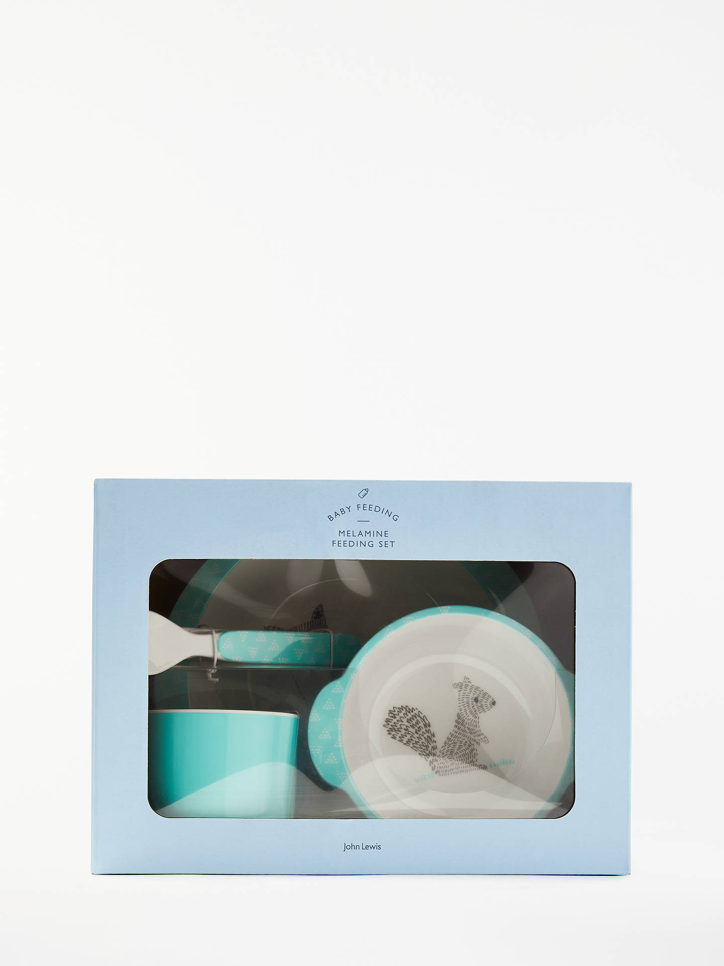 BuyJohn Lewis & Partners Forest Friends Melamine Feeding Set, 5 Pieces, Green Online at johnlewis.com