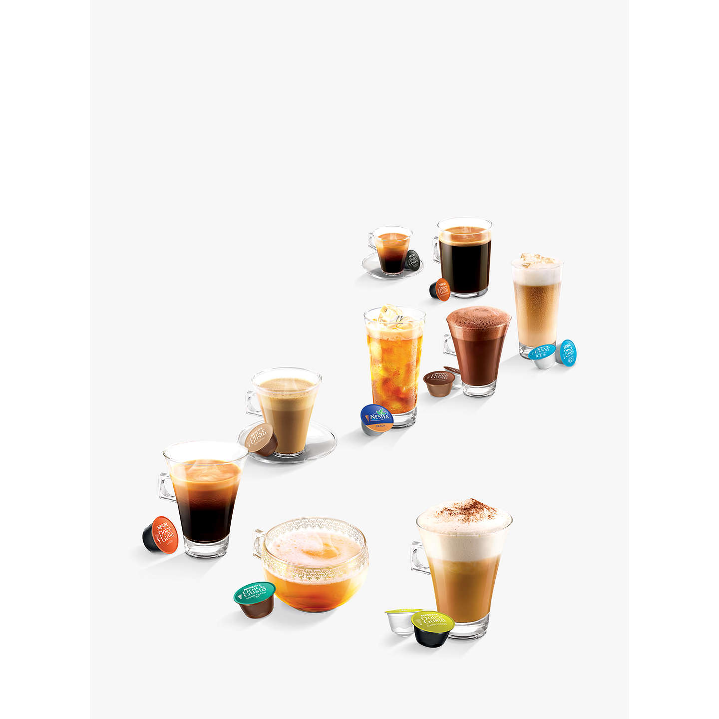 dolce gusto lumio coffee machine by krups black at john lewis. Black Bedroom Furniture Sets. Home Design Ideas
