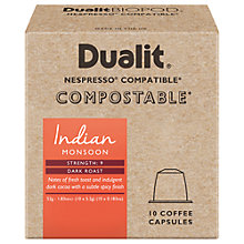 Buy Dualit Compostable Indian Monsoon Coffee Capsules, Pack of 10 Online at johnlewis.com
