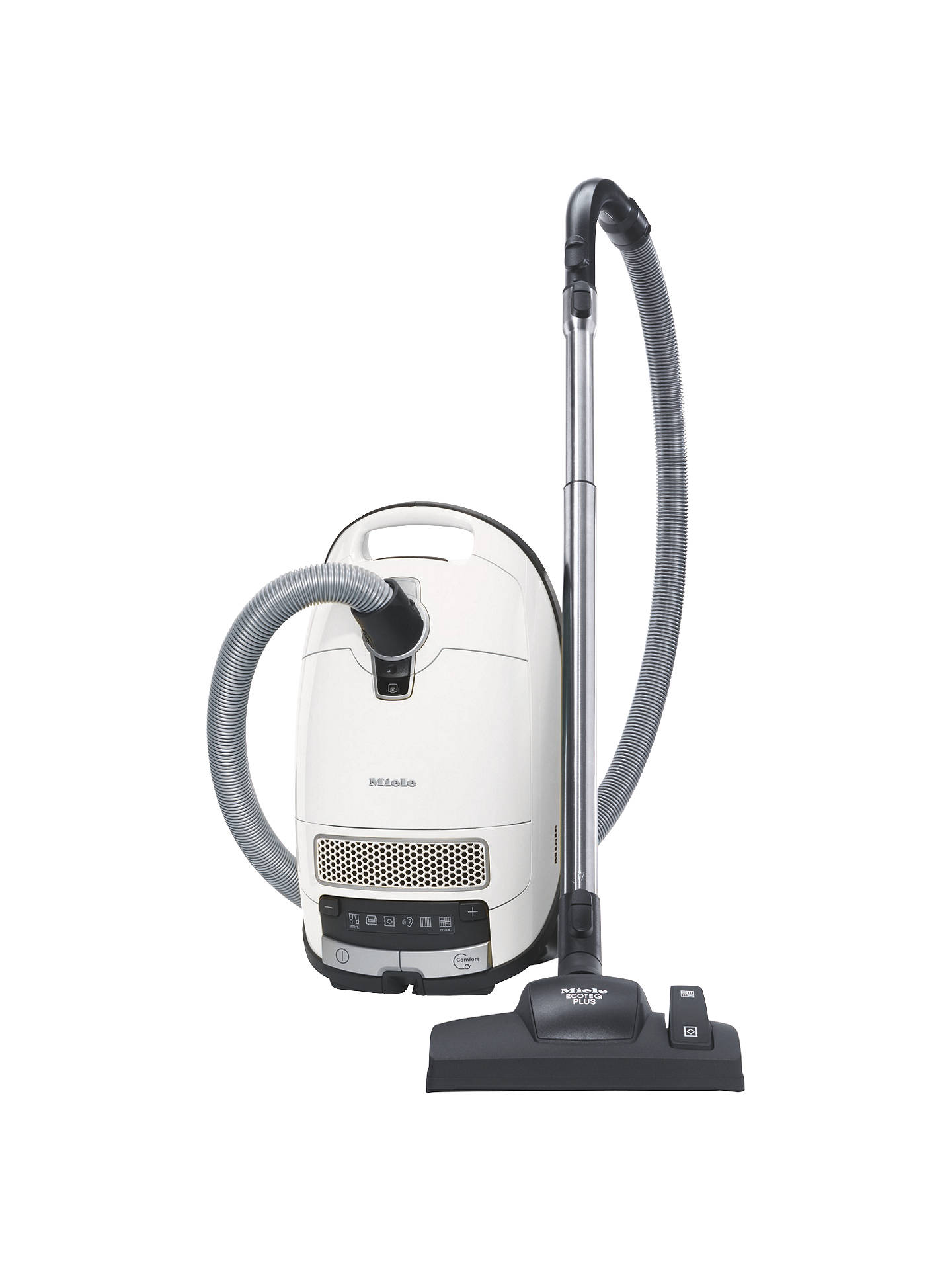 miele complete c3 silence ecoline vacuum cleaner white at lewis partners