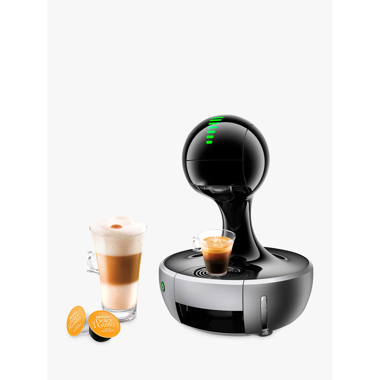 dolce gusto drop coffee machine by krups silver at john lewis. Black Bedroom Furniture Sets. Home Design Ideas