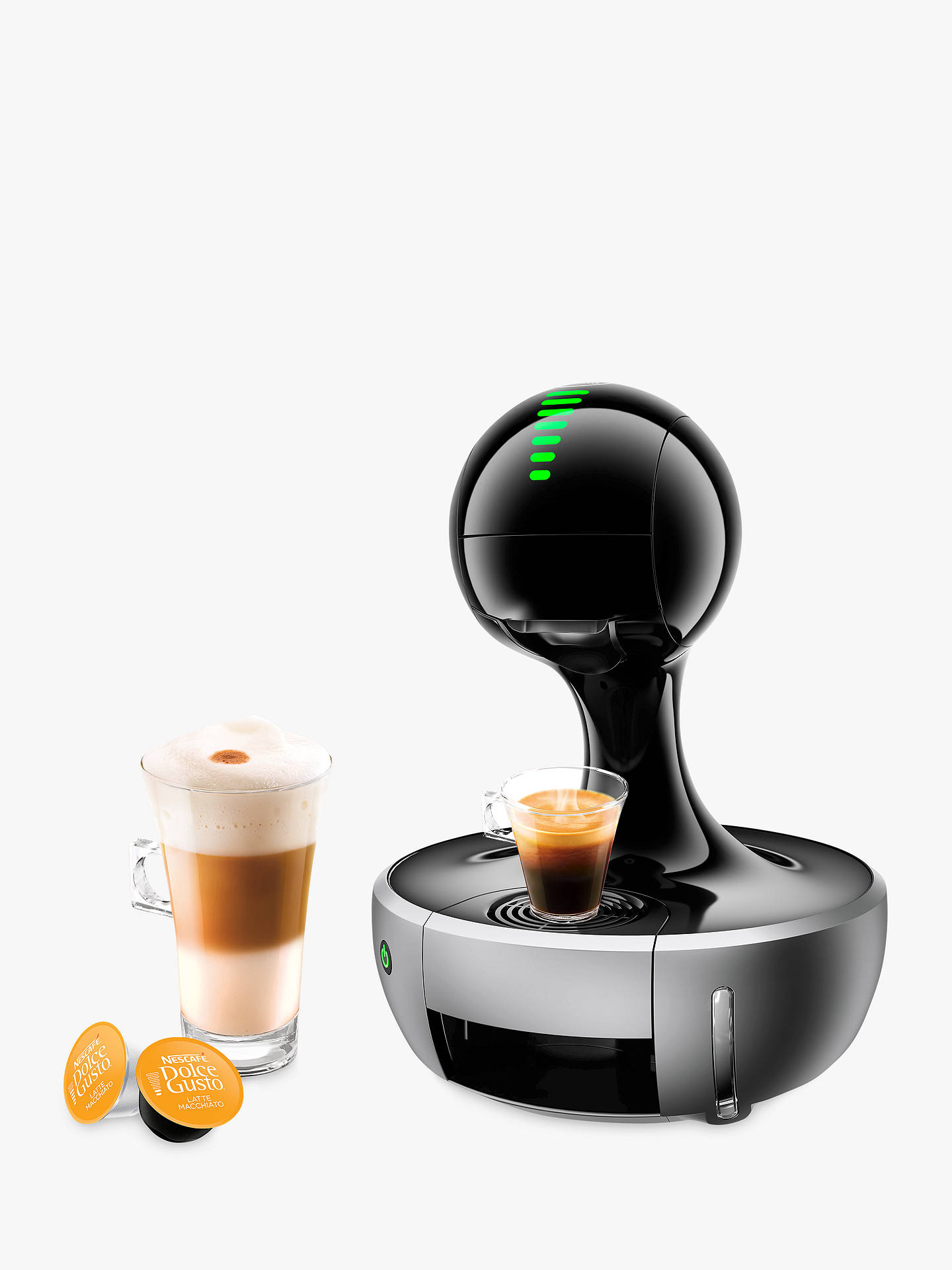 dolce gusto drop coffee machine by krups silver at john. Black Bedroom Furniture Sets. Home Design Ideas
