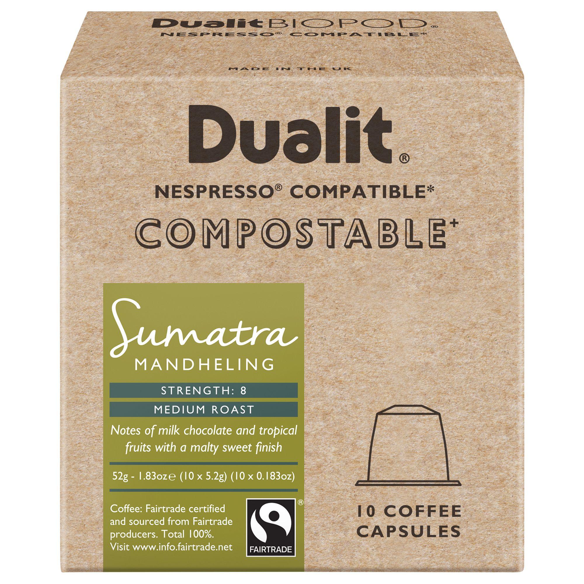 Dualit Compostable Sumatra Mandheling Coffee Capsules Pack