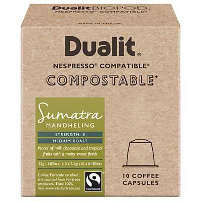 Dualit Compostable Sumatra Mandheling Coffee Capsules, Pack of 10 Review thumbnail
