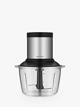 John Lewis & Partners Mini Chopper, Black/Stainless Steel