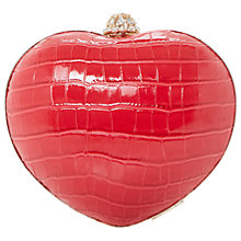 Buy Dune Babe Heart Clutch Bag, Red Online at johnlewis.com