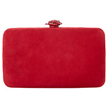 Buy Dune Bloved Clasp Clutch, Red Online at johnlewis.com