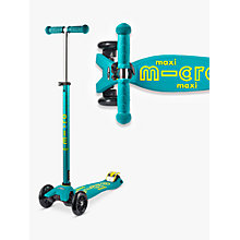 Buy Maxi Micro Deluxe Scooter, 6-12 years, Petrol Online at johnlewis.com