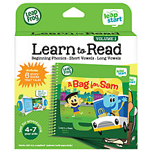 Buy LeapFrog LeapStart Learn To Read Volume One Activity Book Online at johnlewis.com