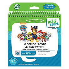 Buy LeapFrog LeapStart Around Town with Paw Patrol Activity Book Online at johnlewis.com