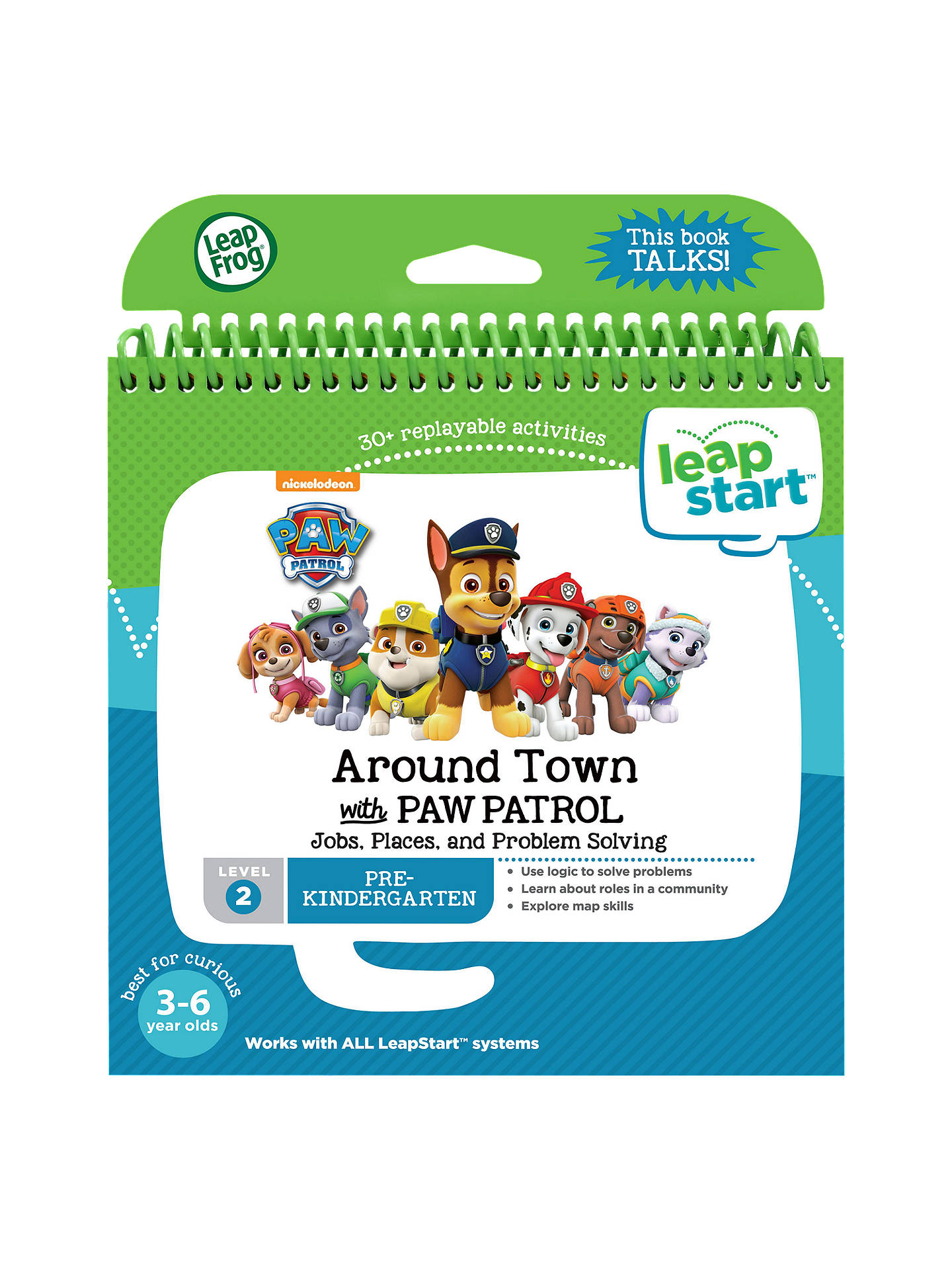 LeapFrog LeapStart Around Town with Paw Patrol Activity Book at John ...