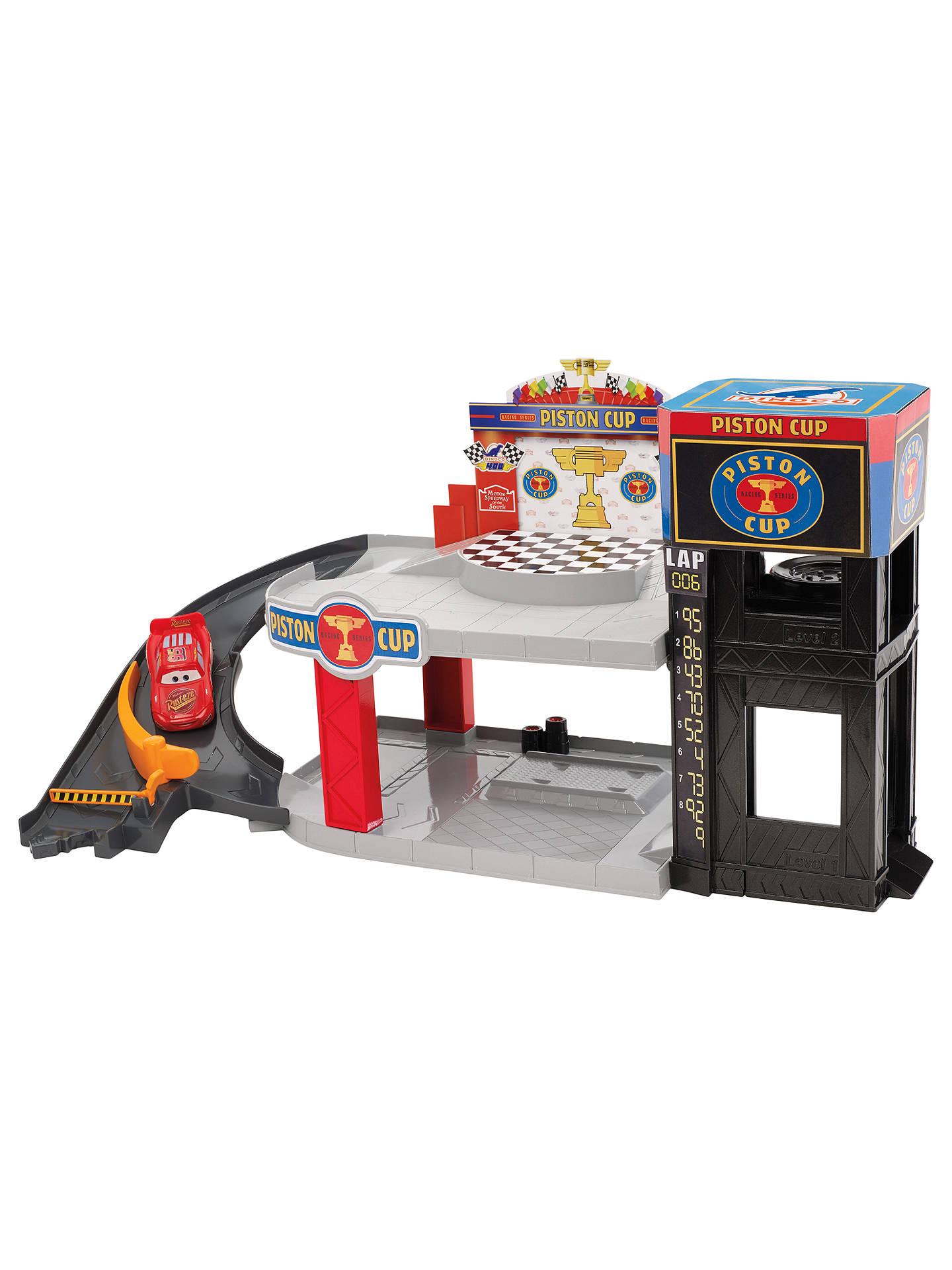 Disney Pixar Cars 3 Piston Cup Racing Garage Playset At