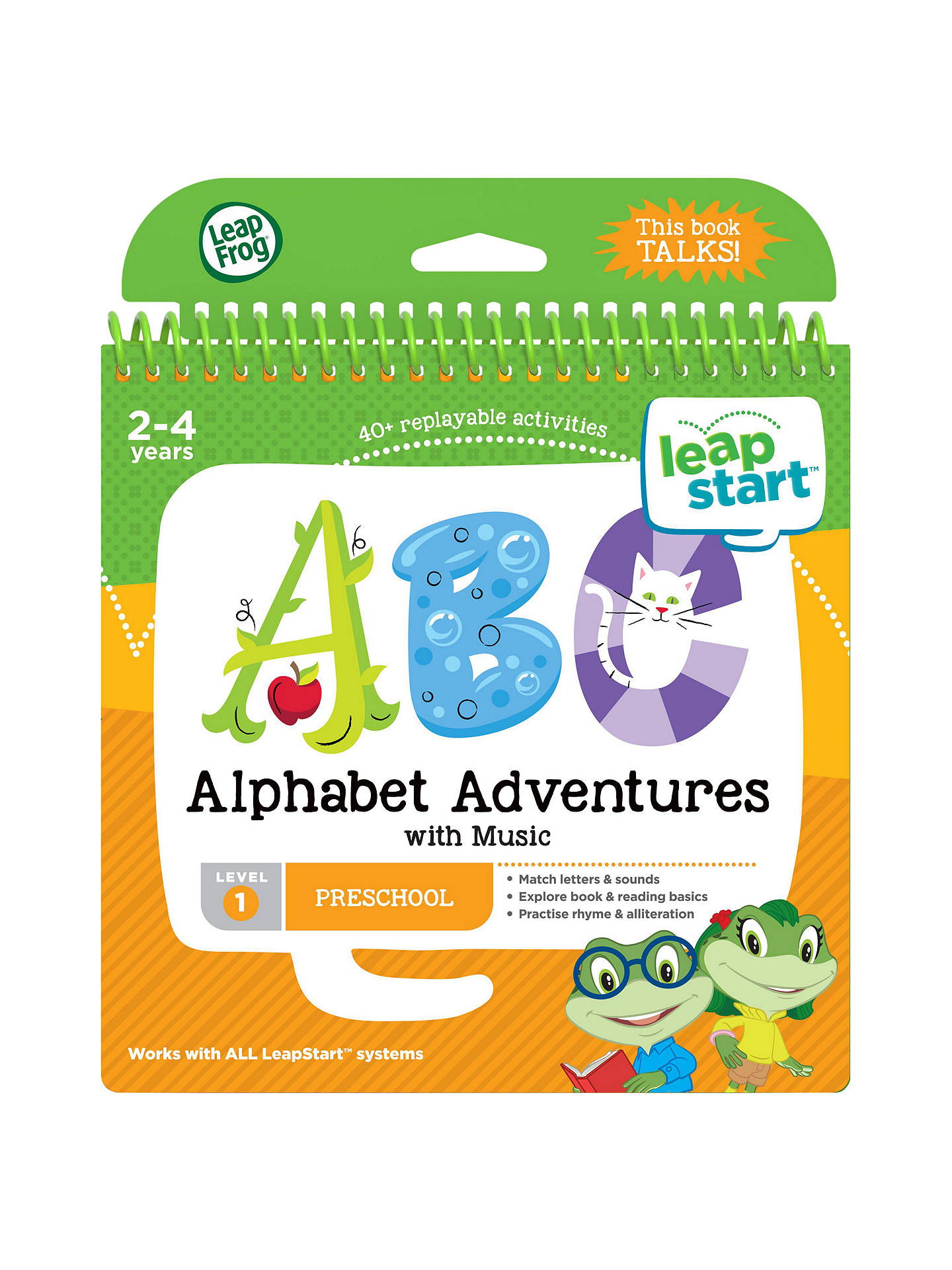 BuyLeapFrog LeapStart Alphabet Adventures Activity Book Online at johnlewis.com