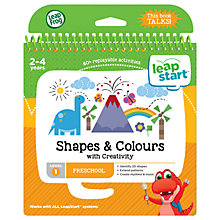 Buy LeapFrog LeapStart Shapes And Colours Activity Book Online at johnlewis.com