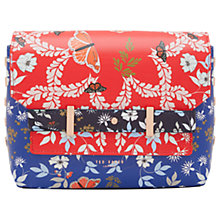 Buy Ted Baker Gilda Kyoto Gardens Studded Across Body Bag, Bright Blue Online at johnlewis.com
