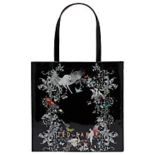 Buy Ted Baker Enchanted Dream Magical Large Icon Shopper Bag, Black Online at johnlewis.com