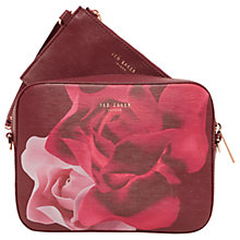 Buy Ted Baker Idalai Porcelain Rose Across Body Camera Bag, Maroon Online at johnlewis.com